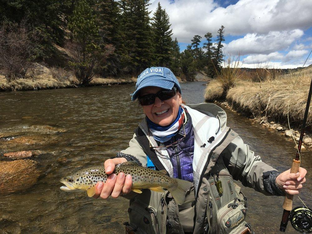 Fly Fishing on South Park, CO private water